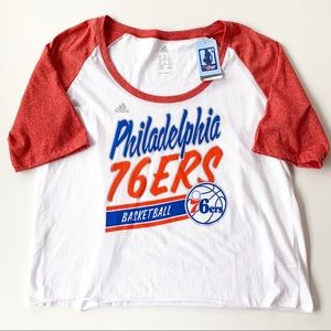 Adidas Women's Philadelphia 76ers Color block Tee